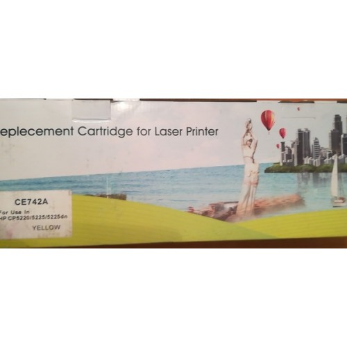 Картридж Replecement cartridge CE742A, совместимый в тех. упаковке