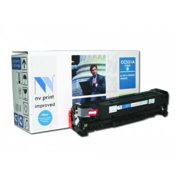 Картридж Nv print CC531A, совместимый