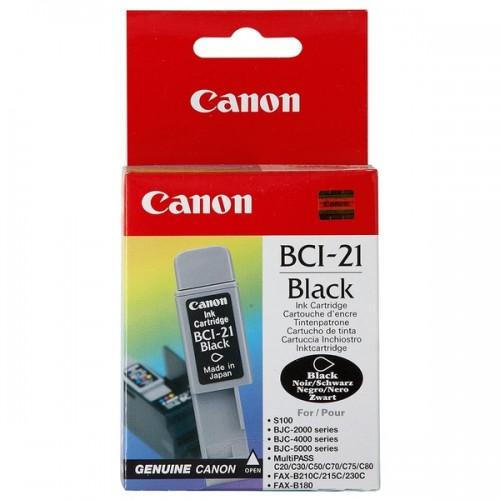 Картридж Canon BCI-21 Black, оригинальный в тех. упаковке