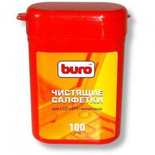 Туба малая с чистящими салфетками BURO для LCD и TFT мониторов (100шт)