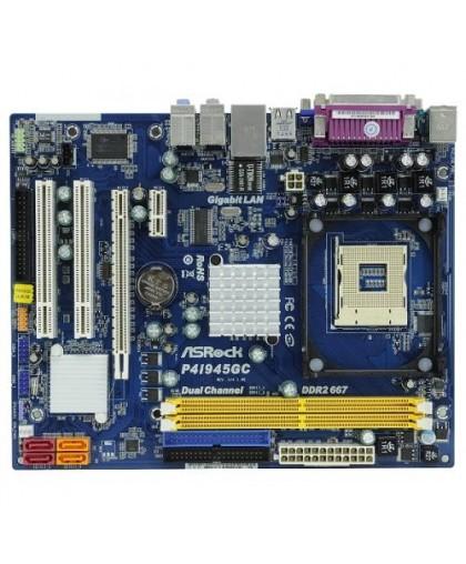 Мат плата S-478 Asrock i945GC+1CH7, 2xDDR2, VGA+PCX16+PCX1+2xPCI, 1xATA+4xSATA II