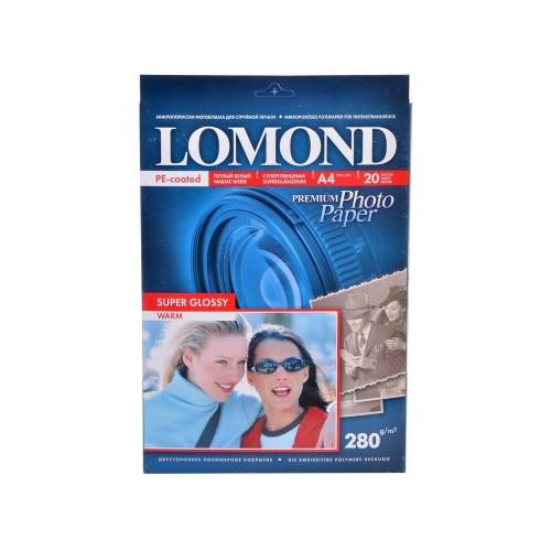 Суперглянцевая тепло-белая микропористая фотобумага для струйной печати, A4, 280 г/м2, 20 листов.