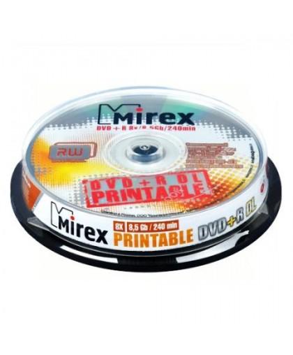 Диск DVD+R DL MirexДиск DVD+R 8x/8.5Gb/240min 10 шт. Cake Box