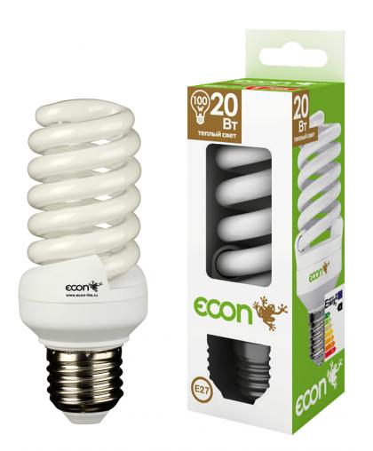 12021 Лампа эн.сб. ECON FSP 20Вт Е27 2700К А60 желтый свет (аналог лампы накаливания 100Вт)