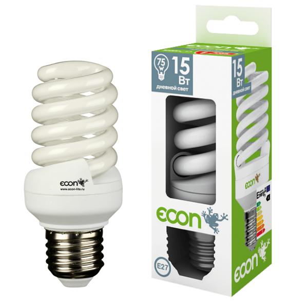 11520 Лампа эн.сб. ECON FSP 15Вт Е27 4200К А60 белый свет (аналог лампы накаливания 75Вт)